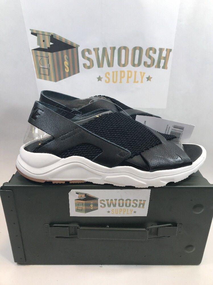 sports shoes fb133 6d341 Nike Air Huarache Ultra Womens 885118-001 Black White Gum Brown Sandals Size  10
