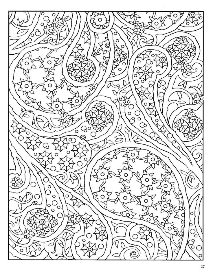 free paisley adult coloring pages - photo#31