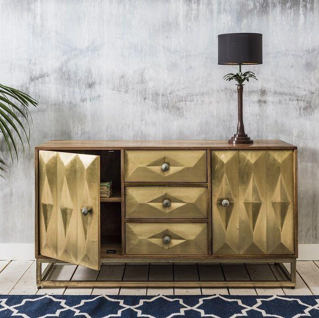 Bold Brass Dining Room Furniture