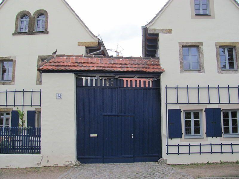 Gehöft in Altnaundorf/Radebeul, Sachsen.