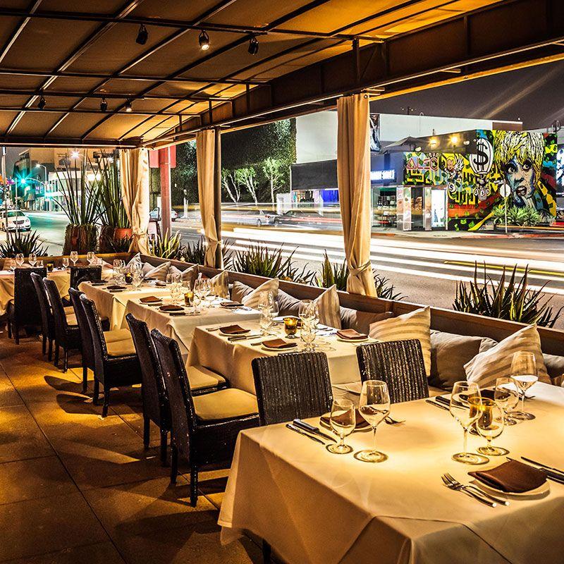 Red o restaurant santa monica duck taquitos guacamole for Cafe jardin newport beach