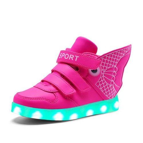 pink kids goldfish luminous shoes oplichtende schoenen kleine diva meisjesschoenen voor kinderen
