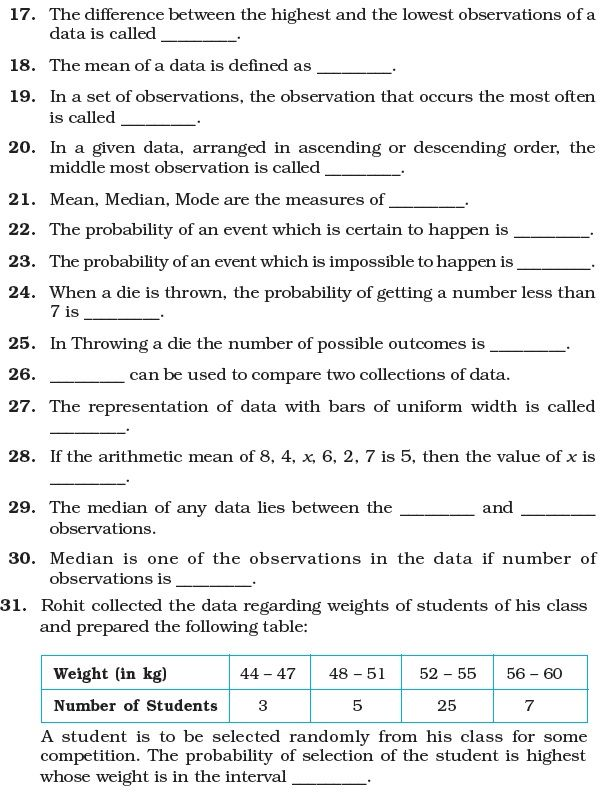 Class 7 Important Questions For Maths Data Handling Probability Math Math Questions This Or That Questions