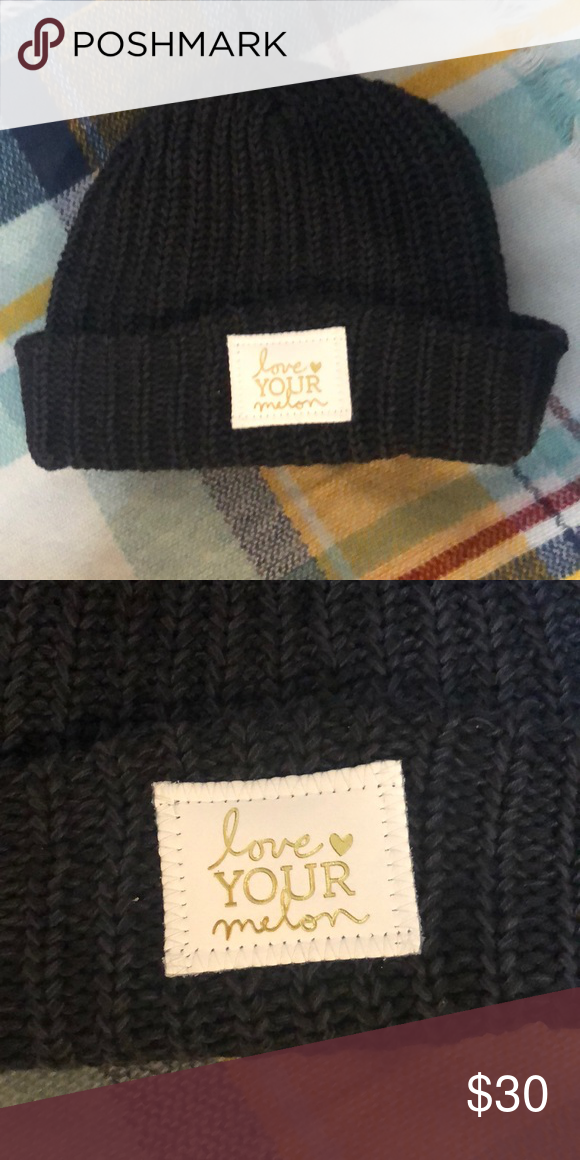 Love your Melon hat 🧢💕 LOWEST PRICE! Super cute gold writing! Darker  charcoal color. Brand new 3458f533bbf9