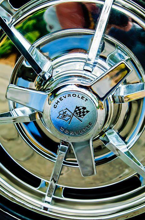 62-63 Chevrolet Wire Wheel Center Cap Spinner Set USA Trim Parts