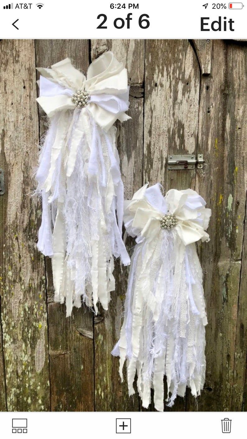 Shabby Chic Rag Bow Tutorial, rag bow tutorial, rag bow how to, shabby chic decor, no sew rag bow