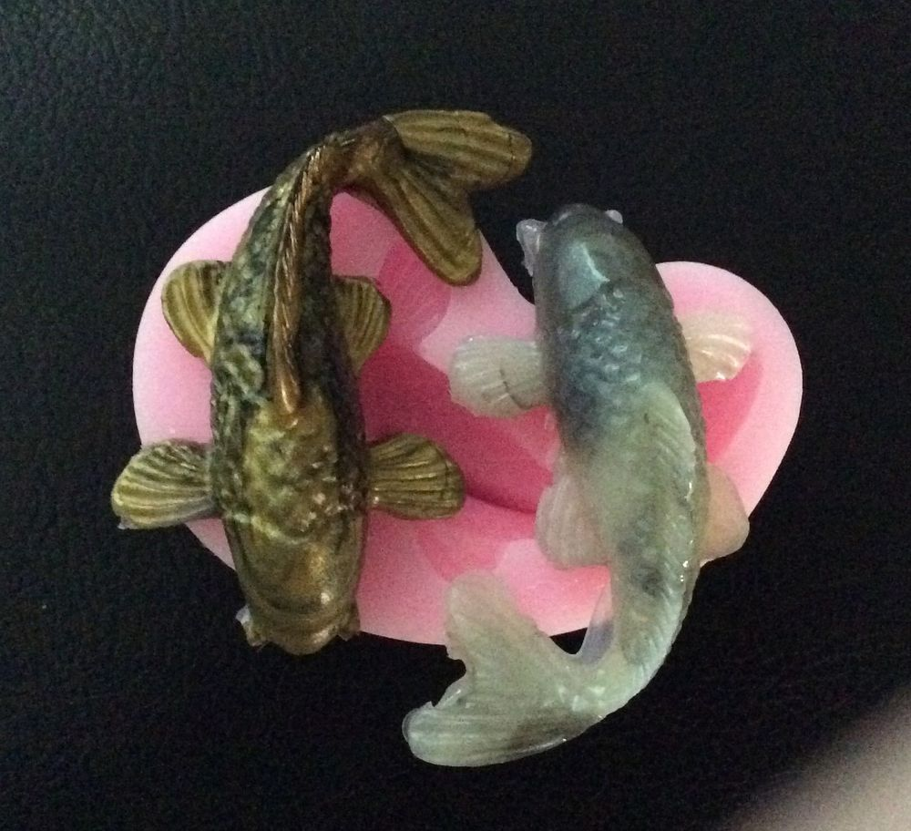 Large koi fish silicone push mold soap mold resin silicone for Large koi carp