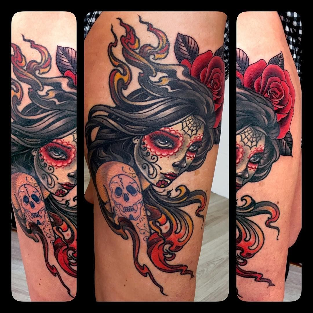 Collection of the most awesome Mexican skull tattoo