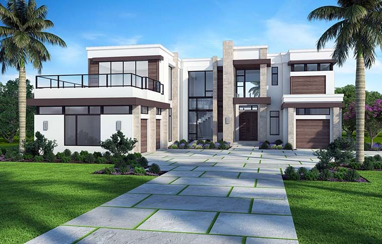 Modern Style House Plan 52929 With 5 Bed 7 Bath 3 Car Garage Modern Style House Plans Contemporary House Plans Modern Contemporary House Plans