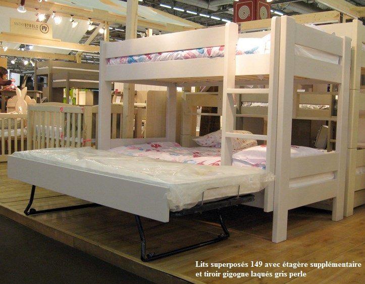 tr s compact robuste et en bois massif ce lit superpos enfant est parfait pour une petite. Black Bedroom Furniture Sets. Home Design Ideas
