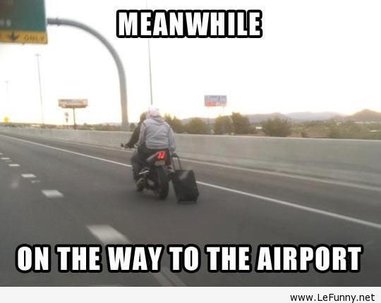 On the way to the airport  http://funphotololz.com/funny/on-the-way-to-the-airport/