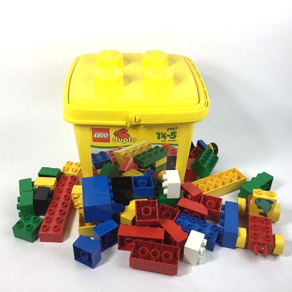 Lego Duplo Building Blocks Set 40 Pc 2997 With Yellow Storage