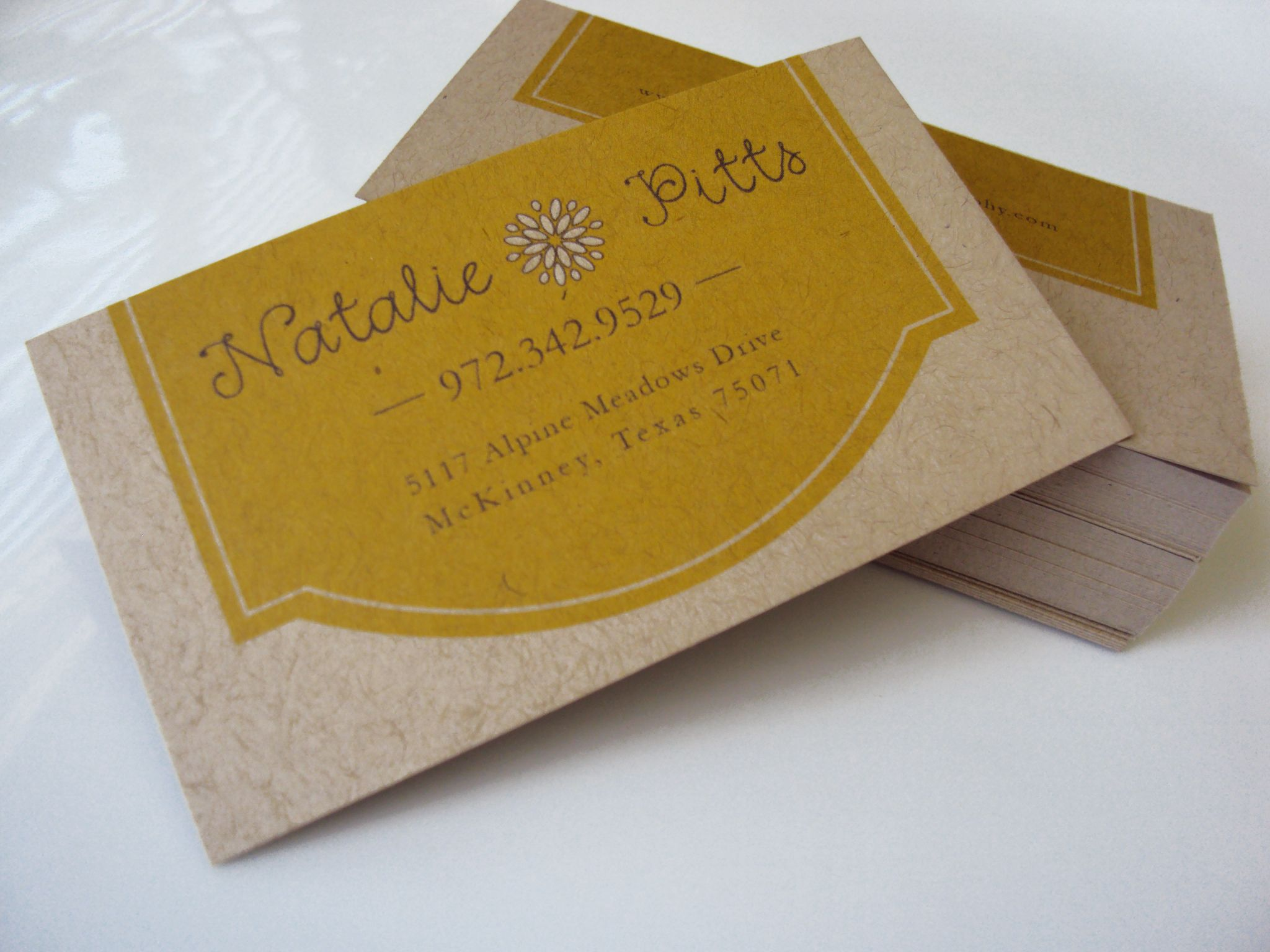 Kraft Paper Business Cards for Natalie Pitts photography | Cd cases ...