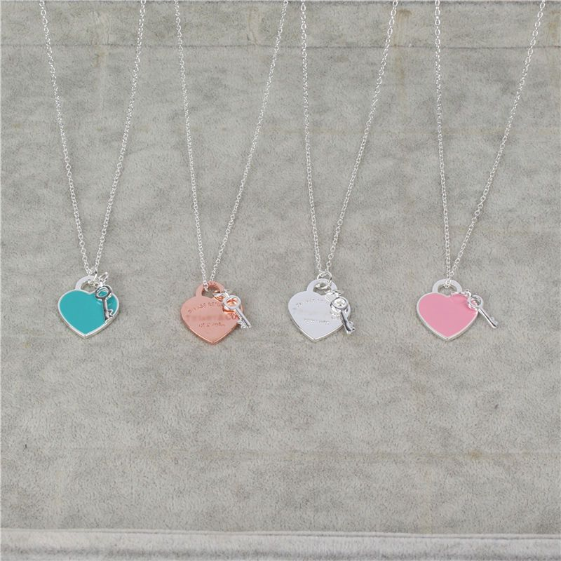 Necklace Choker Women Jewelry Statement Maxi Necklaces Silver Heart Pendants Chain Love Gift Bijoux Collier Femme Body Chain