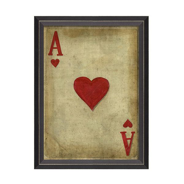 Ace Of Hearts Framed Art ($137) ❤ liked on Polyvore featuring home ...
