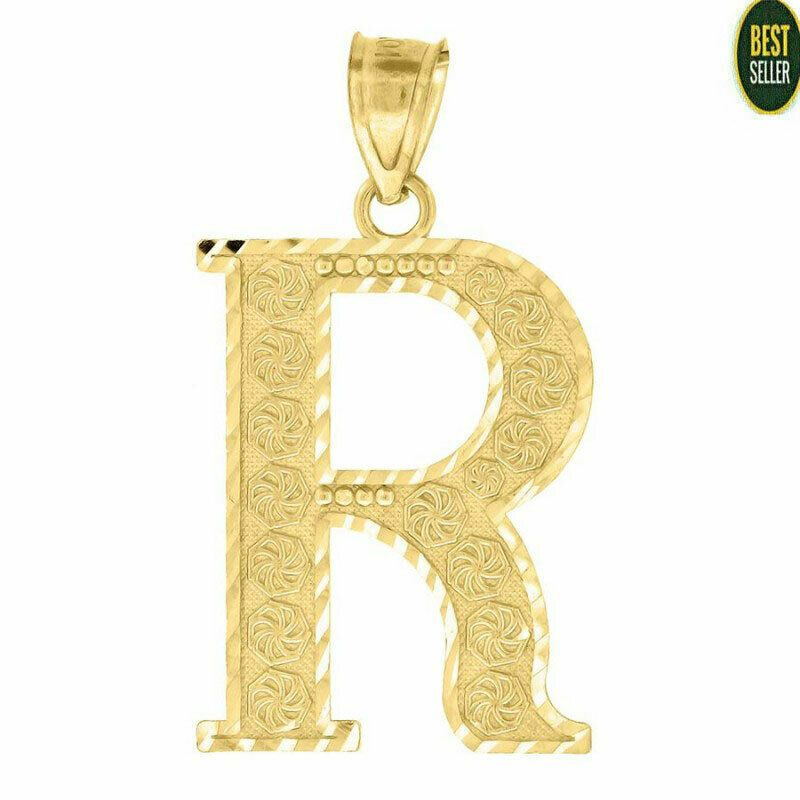 Solid 10kt Yellow Gold Fashion Initial Alphabet R Pendant Charm Gifts Small Tiny Pendant In 2020 Charm Gift Gold Fashion Charm Pendant