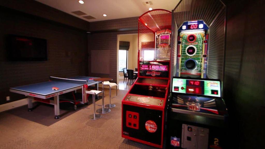 Excited Basement Lighting Unfinishedbasementideas Basement Finishingbasement Video Game Rooms Rec Room Rec Room Decor
