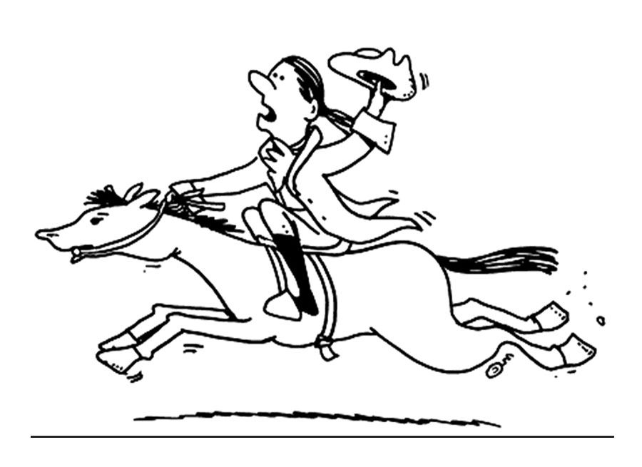Cartoon Paul Revere Coloring Page Coloring Pages Coloring For