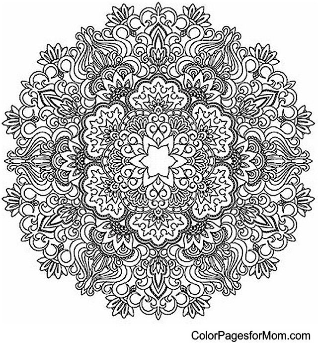 5 reasons why you need a facebook page coloring pages mandalacoloring - Advanced Mandala Coloring Pages