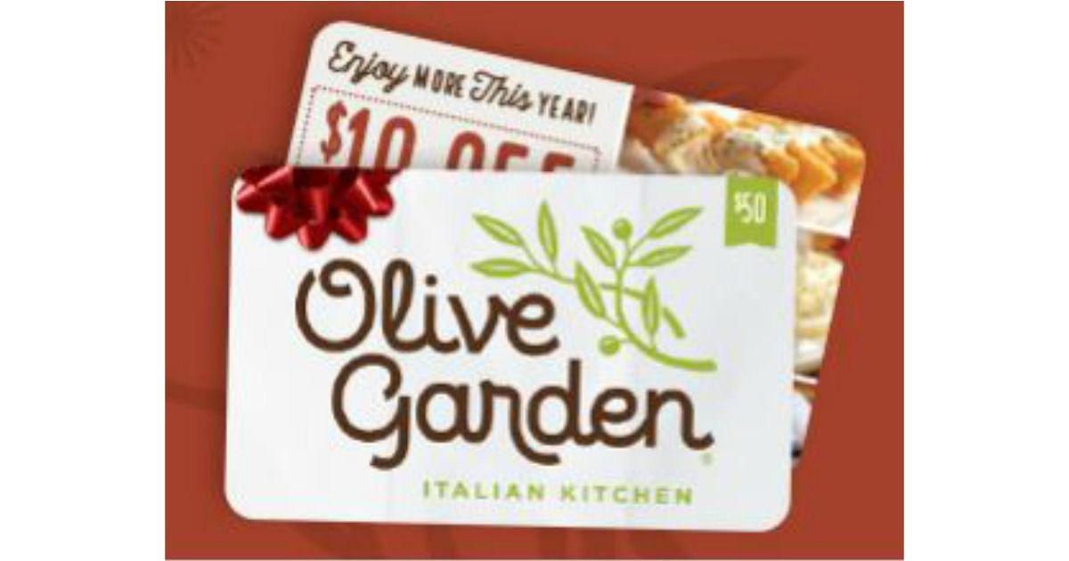 Buy a 50 olive garden gift card get a 10 bonus gift