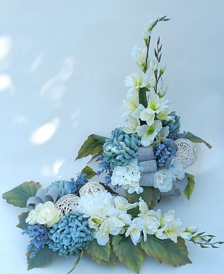 Komplet Kompozycja Kwiatowa Grob Stroik 7523410515 Oficjalne Archiwum Allegro Unique Floral Arrangements Flower Arrangements Funeral Flowers