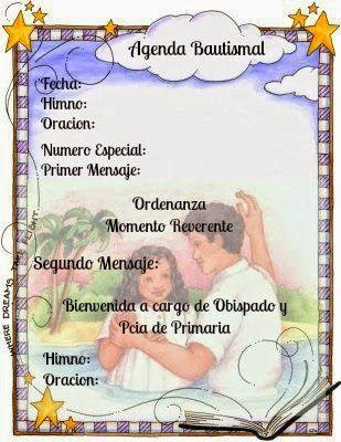 MINUTA PARA BAUTISMO | Bautismos Sud | Pinterest | Baptism ideas and ...