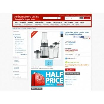 Now 179 00 Was 329 95 Save 150 95 46 On Breville Boss To Go Plus Personal Blender The Home Store Online Bargain B With Images At Home Store Breville Blender