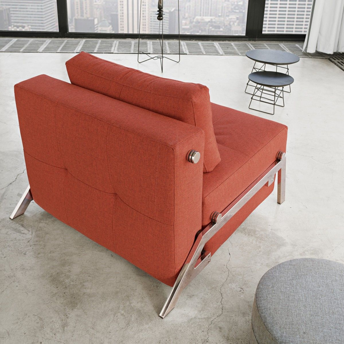 Poltrona Che Diventa Letto Singolo.Poltrona Letto Cubed Trasformabile Letto Singolo Design Moderno