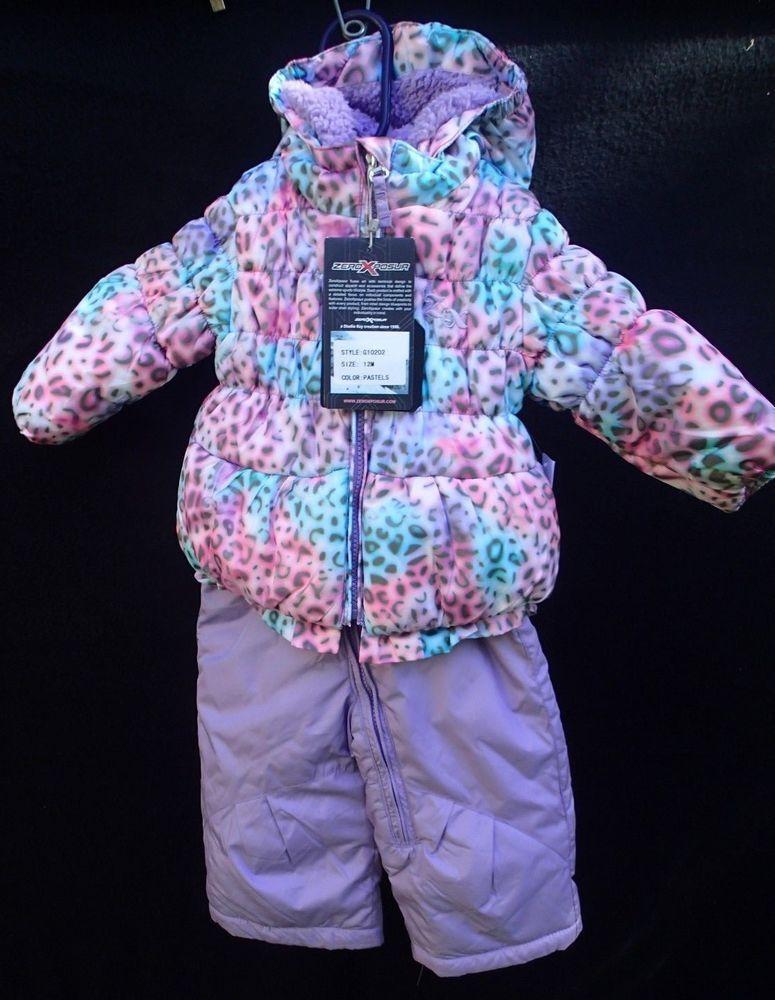 7c039bd2f8a ZeroXposur Jacket Bib Snow Pant Set 12mo Toddler Baby Girls NEW Pastels   ZeroXposur  JacketSnowpants  Everyday