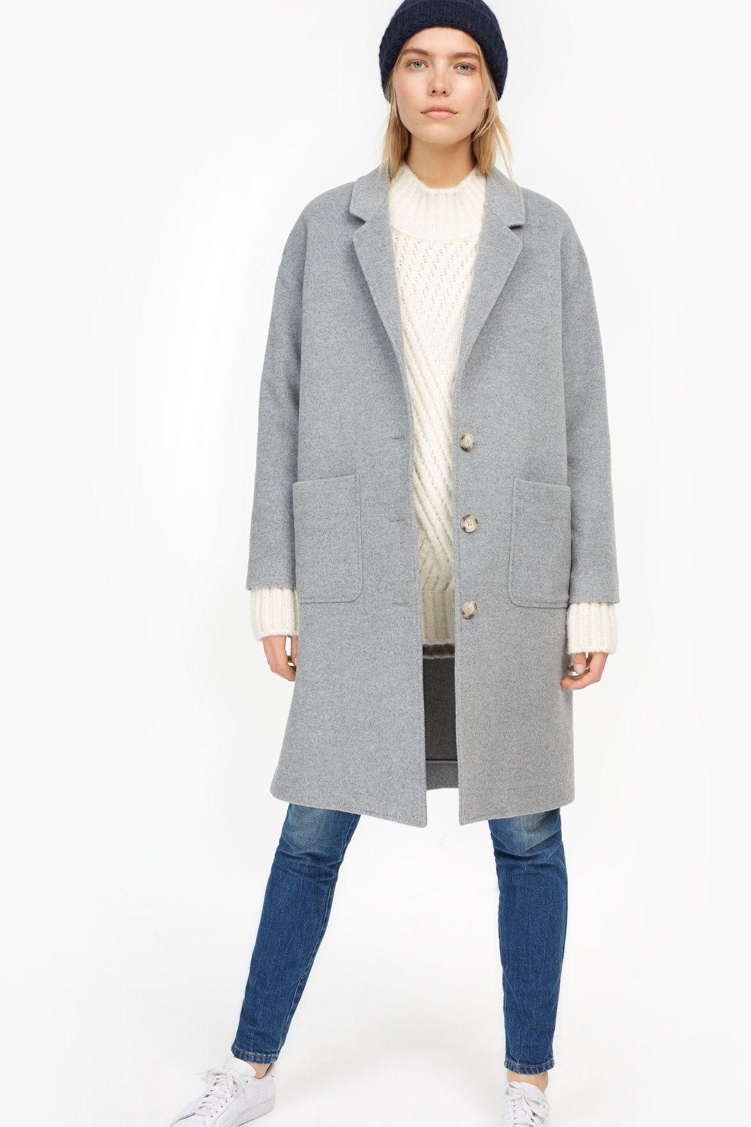 Closed mantel aus wolle und cashmere