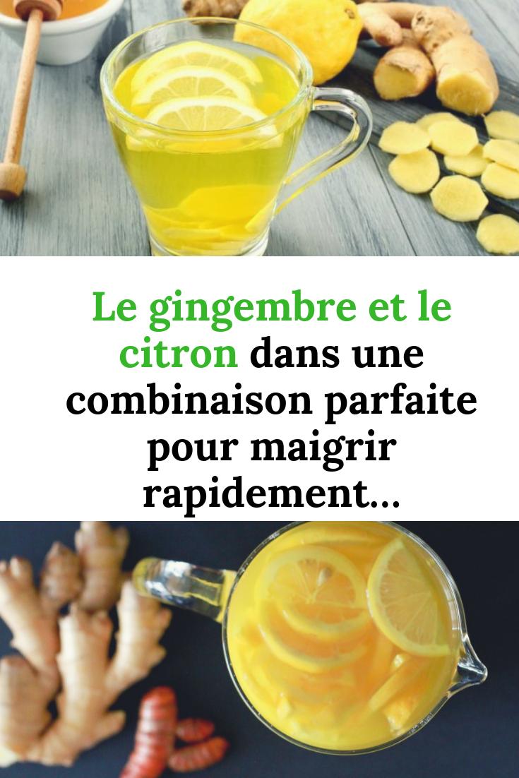 Le gingembre et le citron dans une combinaison parfaite