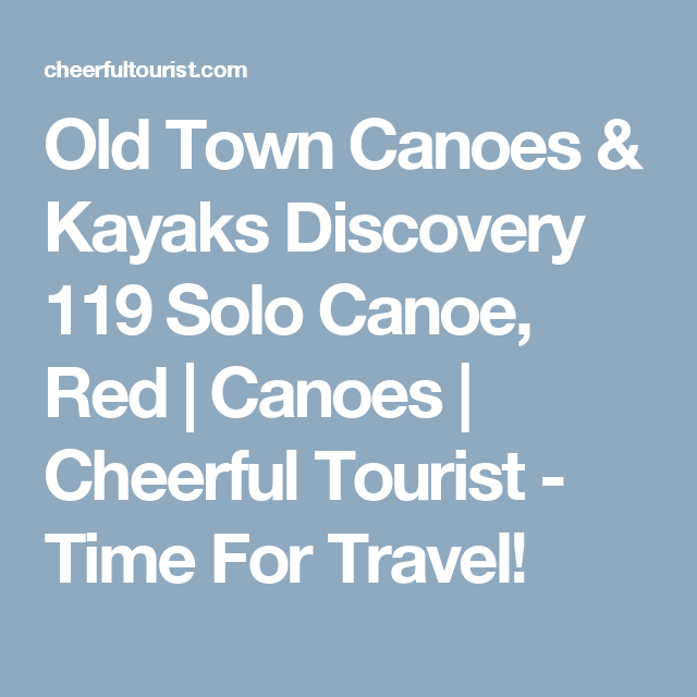 Old Town Canoes & Kayaks Discovery 119 Solo Canoe, Red