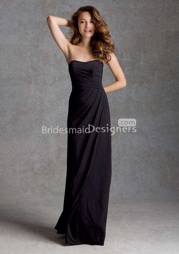 Black Strapless Bridesmaid Dress - Ocodea.com