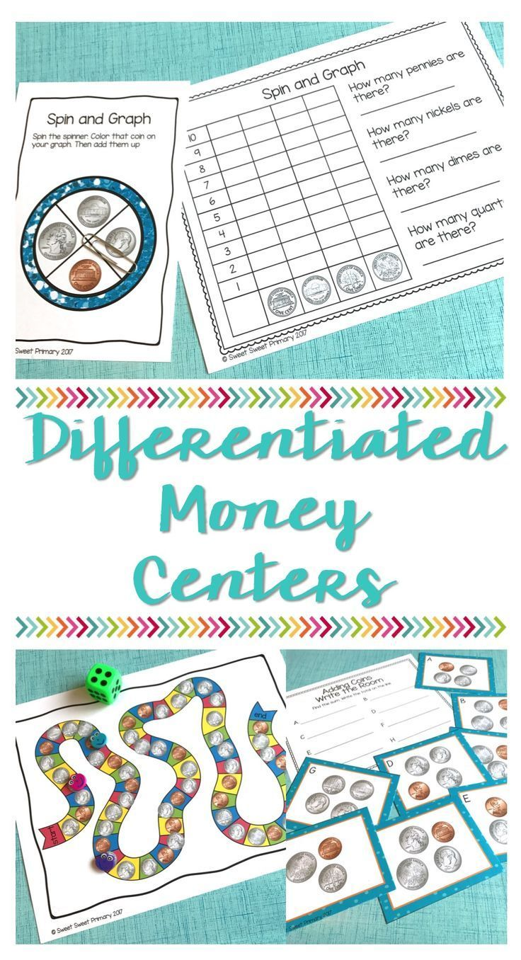 Differentiated Money Math Centers | Math, Students and Math blocks