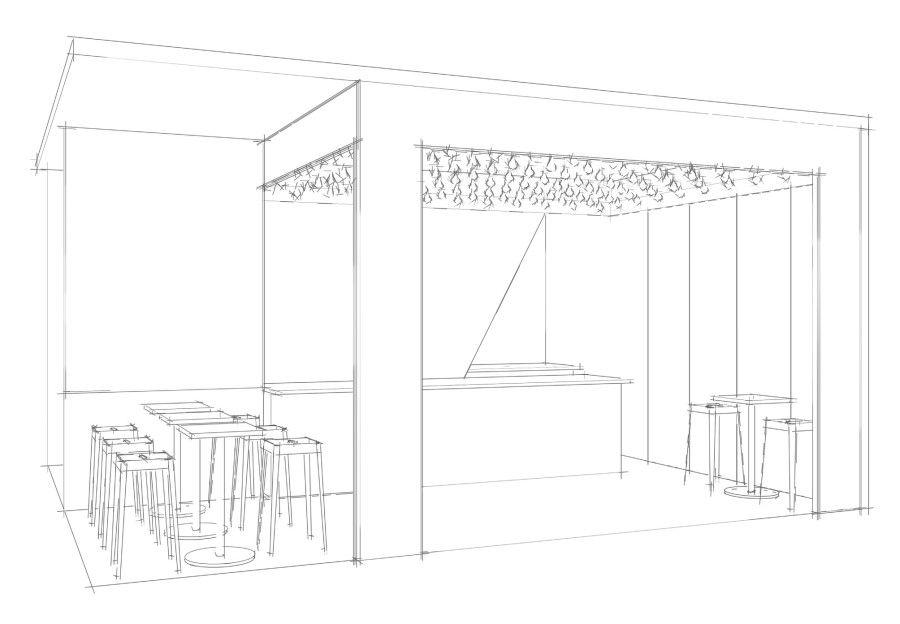 Retail Restaurant Interior Design Space Sketch, Sketch Up ...