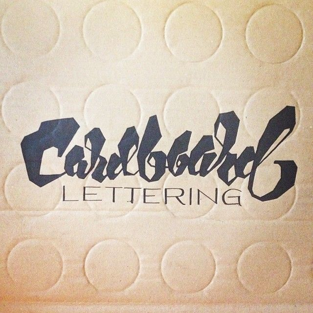 Today's canvas. #cardboard #lettering #script #posca by @Simon Ålander (Via @Andrei Robu) http://ift.tt/1cOnuR3