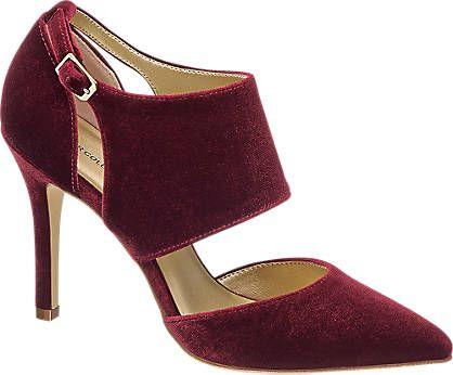 Heeled shoe in velvet (Ellie Goulding Star Collection