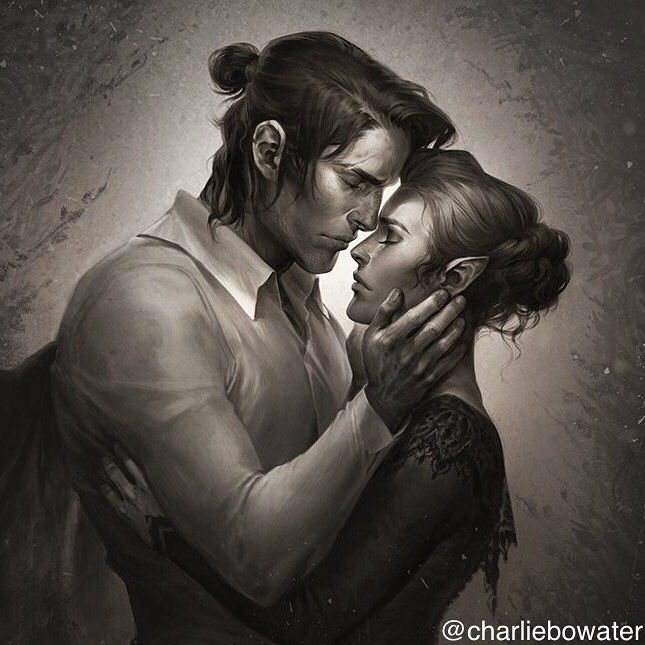 Nesta And Cassian By Charlie Bowater A Court Of Mist And Fury A