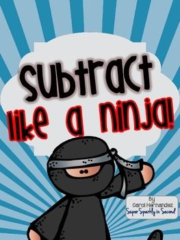 subtract like a ninja pack 2 digit subtraction w regrouping task cards interactive notebook. Black Bedroom Furniture Sets. Home Design Ideas