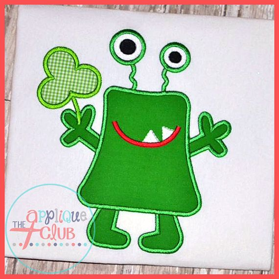 SAMPLE SALE: Boys Shamrock Monster Appliqued by MaddyBelleBoutique