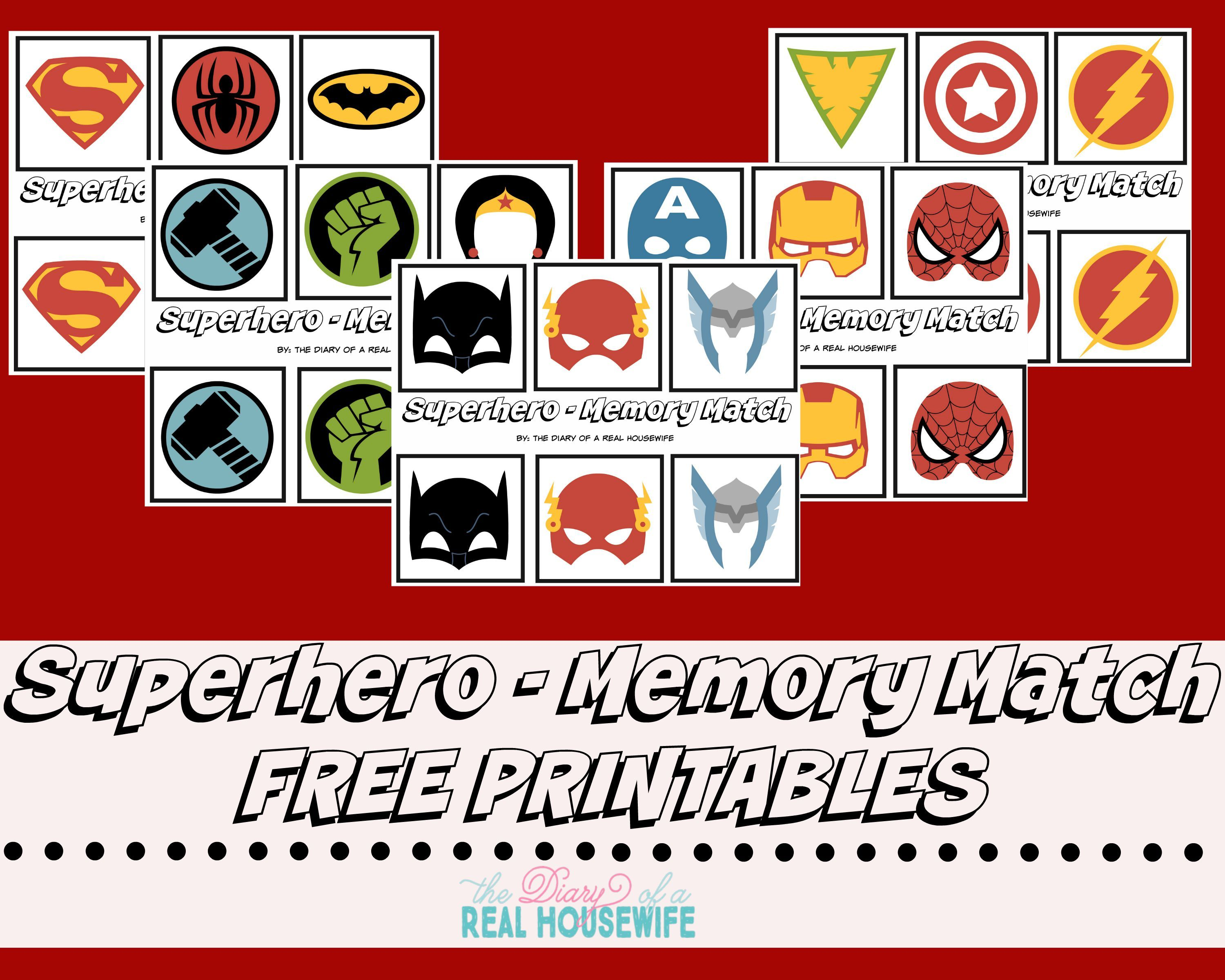 Uncategorized Superhero Printable Activities superhero memory match free prints pinterest preschool activities