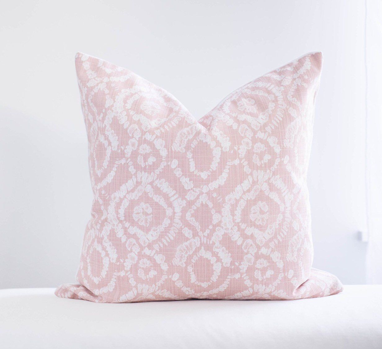 Blush Pink Textured Throw Pillow Cover