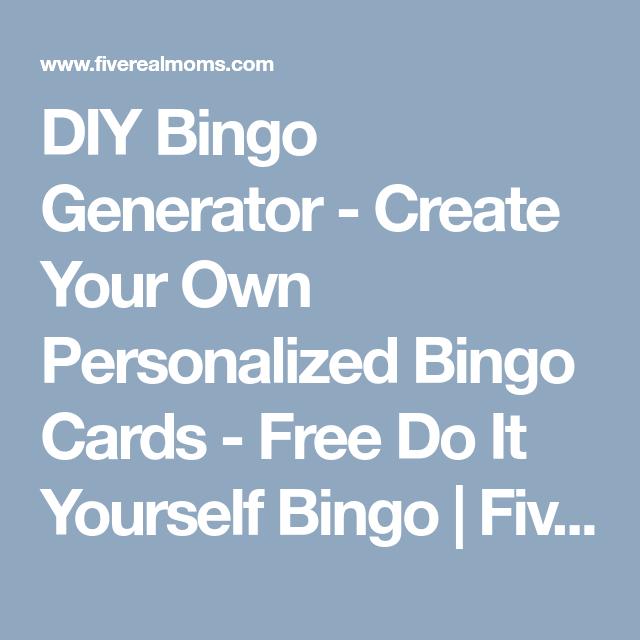 Diy bingo generator create your own personalized bingo cards diy bingo generator create your own personalized bingo cards free do it yourself bingo solutioingenieria Gallery