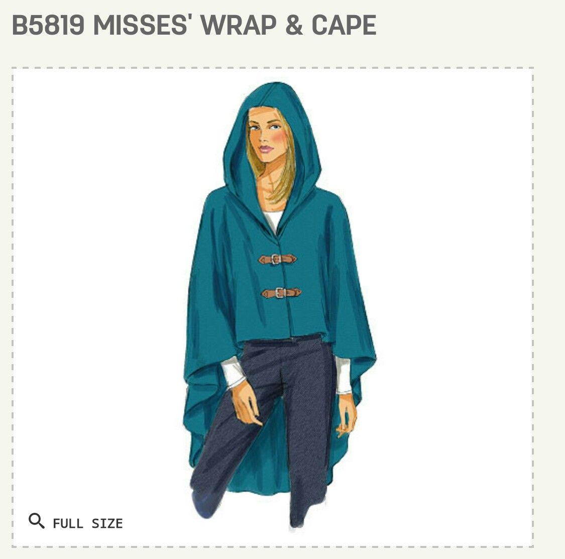 Butterick B5819 Cape / Poncho Dress Pattern | Sewing Patterns ...