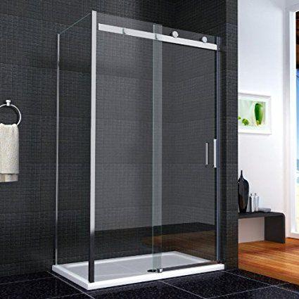 332 1000x1950mm Luxury Walk In Sliding Shower Door Enclosure Easyclean Glass Screen With 700mm Side Panel Sh Shower Enclosure Cubicle Design Shower Cubicles