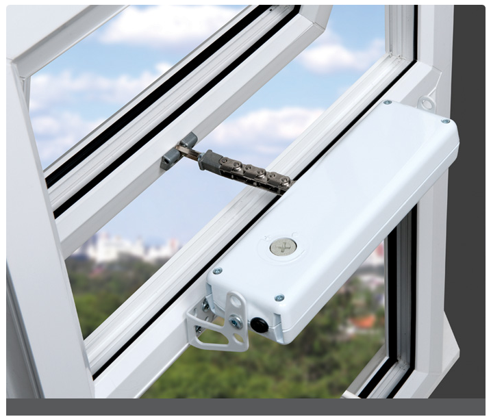 Actuator Fitted To Small Window To Open On Automatic Temperature Roof Lantern Roof Light Window Handles