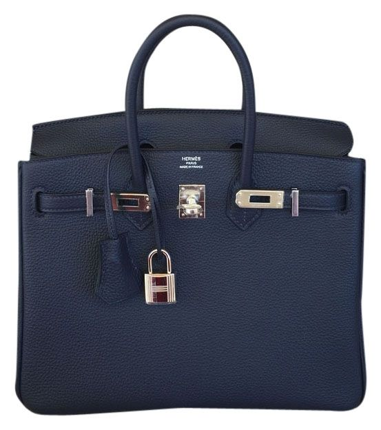 17ad8174a79 Herms New Birkin 25 Cm Togo Palladium Hardware BLUE NUIT Tote Bag. Get one  of the hottest styles of the season! The Herms New Birkin 25 Cm Togo  Palladium ...