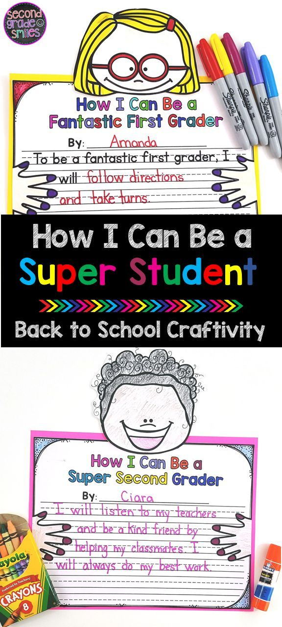 Back to School Craftivity -   18 school crafts show