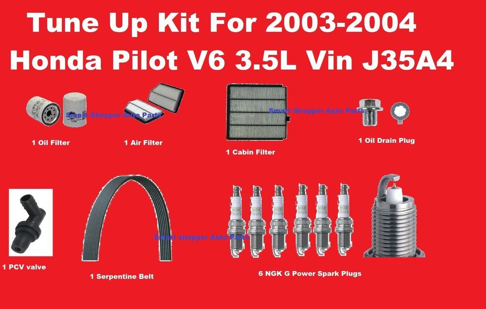 tune up kit for 2003-2004 honda pilot spark plug oil air ... 2006 honda pilot wire diagram #7