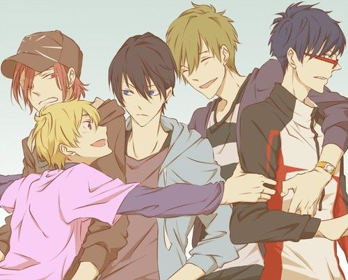 Rin , Nagisa , Haru , Makoto , Rei - Free!